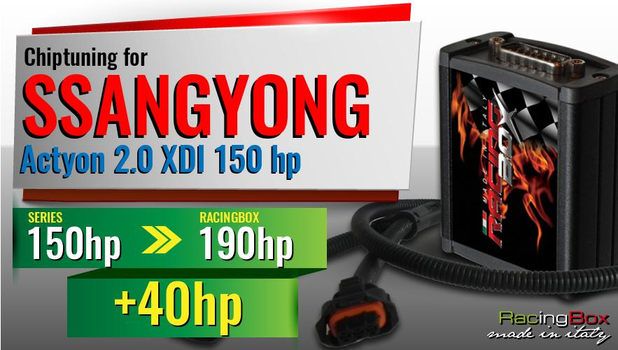 Chiptuning Ssangyong Actyon 2.0 XDI 150 hp power increase