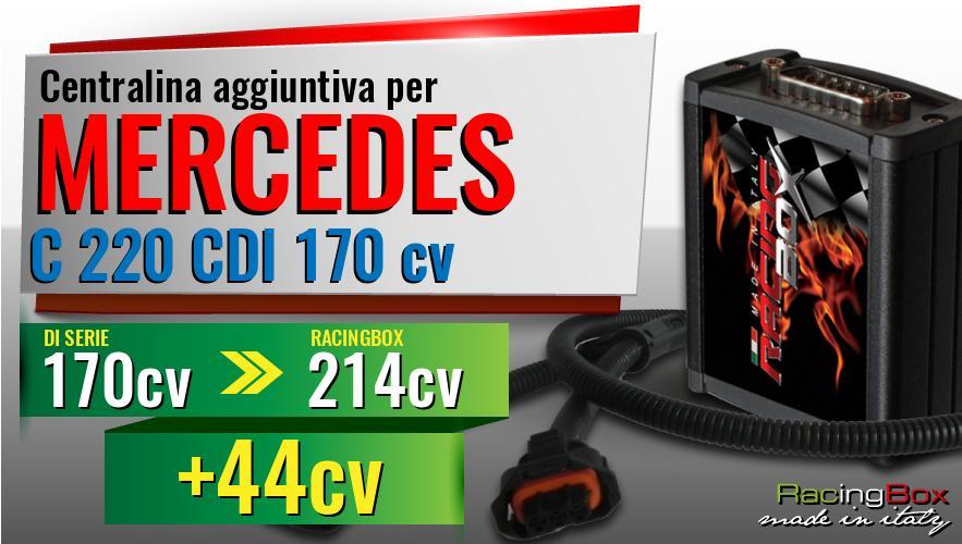 Centralina Aggiuntiva Mercedes C 220 CDI 170 CV+telecomando Modulo Aggiuntivo