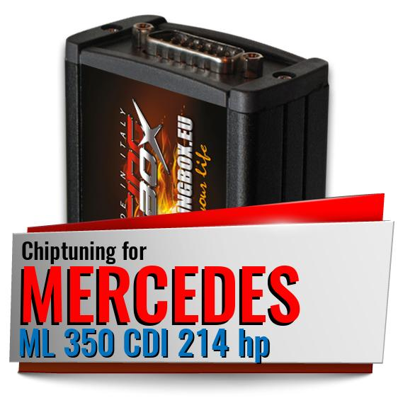 Chiptuning Mercedes ML 350 CDI 214 hp