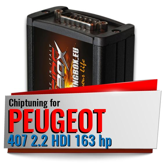 Chip Tuning Box PEUGEOT 407 1.6 HDI 110 HP 2.0 HDI 136 140 163 HP CR
