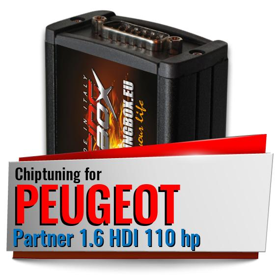 Chiptuning Peugeot Partner 1.6 HDI 110 hp