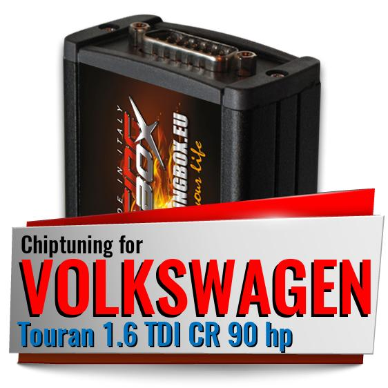 Chiptuning Volkswagen Touran 1.6 TDI CR 90 hp
