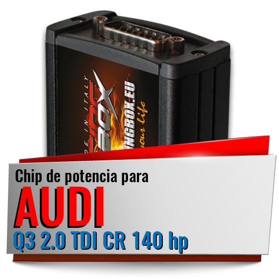 Chip de potencia Audi Q3 2.0 TDI CR 140 hp