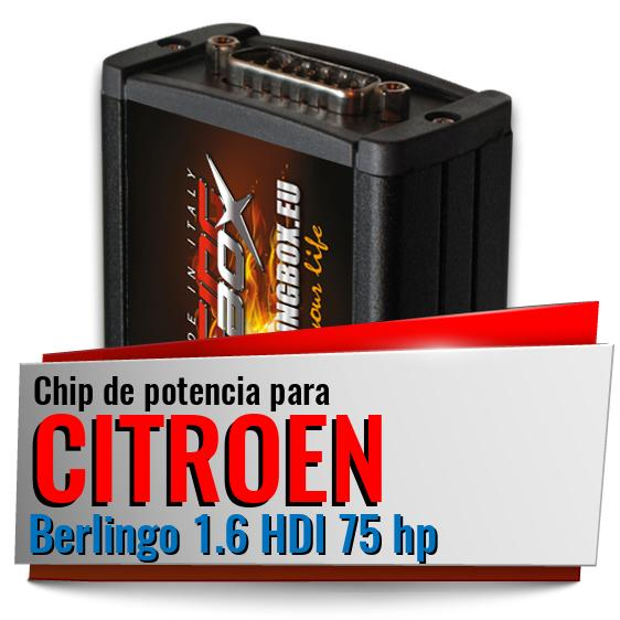 Chip de potencia Citroen Berlingo 1.6 HDI 75 hp